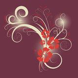 Vector floral design. Beautiful abstract vector floral design Stock Photo