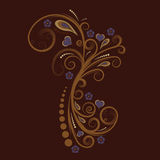 Vector floral design royalty free illustration