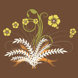 Vector floral design Royalty Free Stock Photography