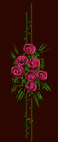 Vector floral design on black background Stock Image