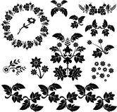 Vector floral design elements Royalty Free Stock Images