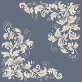 Vector floral design elements for page decoration Stock Photography