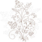 Vector floral design, grassy ornament. Vector illustration royalty free illustration