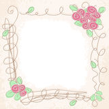 Vector Floral Doodle Frame Stock Photo