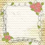 Vector floral doodle frame Royalty Free Stock Photos