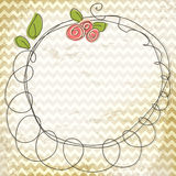Vector floral doodle frame Royalty Free Stock Photo