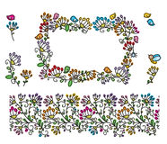 Vector floral elements. Royalty Free Stock Photos