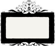 Vector floral frame Stock Image