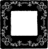 Vector floral frame Stock Photo