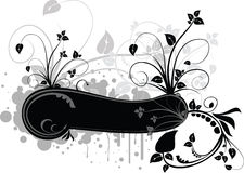 Vector floral frame Royalty Free Stock Photo