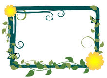 Vector Floral Frame Royalty Free Stock Photos