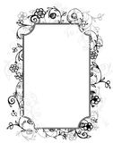 Vector floral frame Royalty Free Stock Image