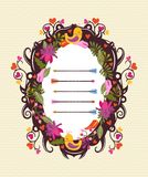 Vector floral frame with birds Stock Images