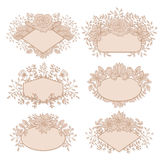 Vector Floral Frame Collection Stock Photography