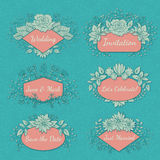 Vector Floral Frame Collection Royalty Free Stock Image