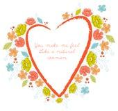 Vector Floral Frame. royalty free illustration