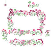 Vector   floral frame and  design elements. Royalty Free Stock Photo