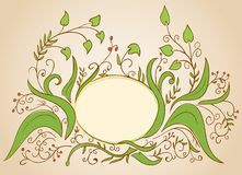 Vector floral frame designed for greeting card Stock Photos