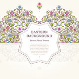 Vector floral frame in Eastern style. Stock Image