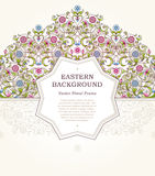 Vector floral frame in Eastern style. Stock Photography