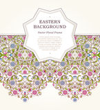 Vector floral frame in Eastern style. Royalty Free Stock Photography