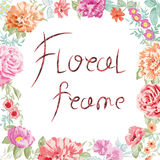 Vector floral frame. Иeautiful roses Stock Images