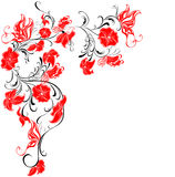 Vector Floral frame from flowers and butterflies Stock Photography