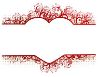 Vector floral frame with heart Royalty Free Stock Photo