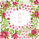 Vector floral frame Stock Images