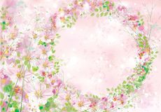 Vector  floral    frame. Stock Image