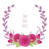 Vector floral frame Royalty Free Stock Images