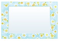 Vector floral  frame 10 x 15,  chamomiles pattern. Royalty Free Stock Photography
