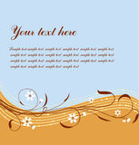 Vector floral frame for your text Stock Photography