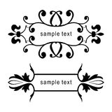 Vector floral frames Royalty Free Stock Photography