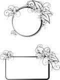 Vector floral frames stock illustration