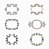 Vector floral frames with copy space. Stock Photo