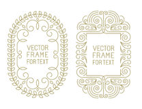 Vector floral frames with copy space Royalty Free Stock Photo