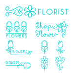 Vector Floral and Gardening Logos Stock Image