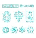 Vector Floral and Gardening Logos Stock Photos