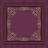 Vector floral and geometric monogram frame on dark gray background. Monogram design element. Stock Photo