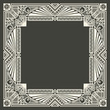 Vector floral and geometric monogram logo on dark Royalty Free Stock Image