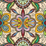 Vector floral geometric seamless pattern, ethnic ornament Stock Photography