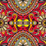 Vector floral geometric seamless pattern, ethnic ornament Royalty Free Stock Photo
