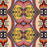 Vector floral geometric seamless pattern, ethnic ornament Stock Photos
