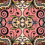 Vector floral geometric seamless pattern, ethnic ornament Stock Image