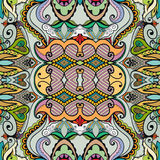 Vector floral geometric seamless pattern, ethnic ornament Stock Images