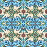 Vector floral geometric seamless pattern, ethnic ornament Royalty Free Stock Images