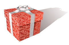 Vector floral gift box royalty free stock images