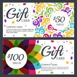 Vector floral gift voucher or card background template Stock Image