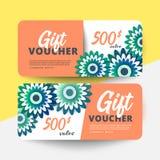Vector floral gift voucher stock illustration